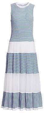 RED Valentino Women's Stripe Knit Midi Dress