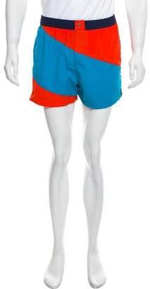 Kenzo Colorblock Swim Trunks w/ Tags
