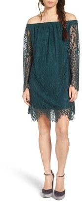 Women's Fire Lace Off The Shoulder Dress $55 thestylecure.com