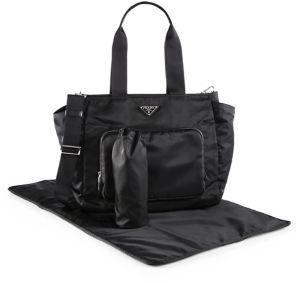 Prada Nylon Diaper Bag $1,360 thestylecure.com