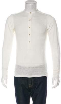 Etoile Isabel Marant Linen Henley T-Shirt