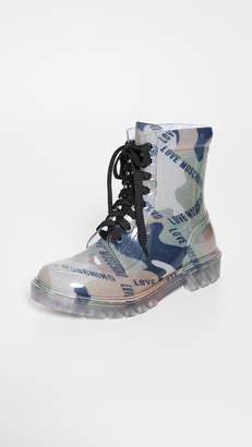 Moschino Print Boots