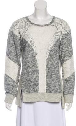 Rebecca Taylor Lace Contour Sweatshirt