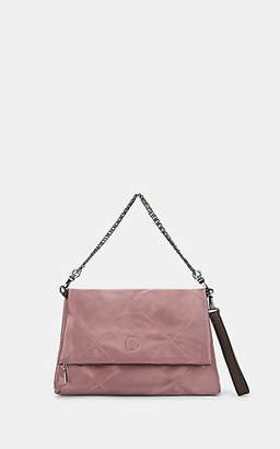 Deux Lux WOMEN'S OVERSIZED QUILTED SATIN ROLL CLUTCH - PINK
