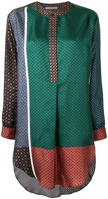 Dusan patchwork flared blouse