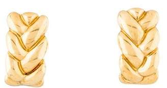 Cartier 18K Braided Clip-On Earrings
