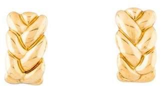 Cartier 18K Braided Clip-On Earrings