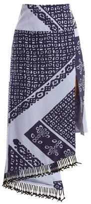 Altuzarra Lumieres Bandana Print Crepe De Chine Skirt - Womens - Blue Print