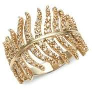 Mizuki 14K Gold & Diamonds Feather Wrap