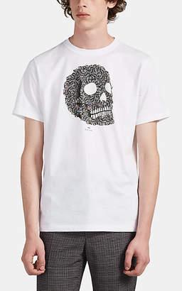 Paul Smith Men's Skull-Print Organic Cotton T-Shirt - White