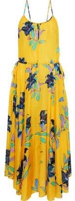 Diane von Furstenberg Floral-Print Cotton And Silk-Blend Organza Midi Dress