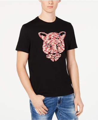 INC International Concepts I.n.c. Men Tiger Reversible Sequin Graphic T-Shirt