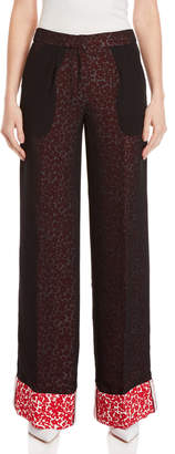 Derek Lam Printed Double Layer Cuffed Pants