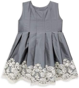 Isabel Garreton Little Girl's Sequin Embroidered Taffeta Dress