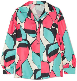 Marc Jacobs Printed Silk-twill Shirt - Pink