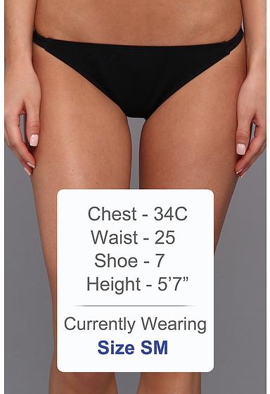 GUESS Triple Threat Strap Bikini Bottom
