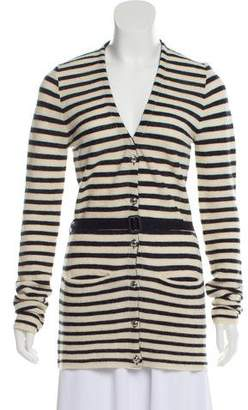 Burberry Striped Alpaca Cardigan