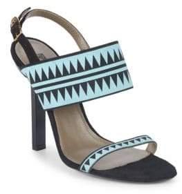 Versace Stiletto Heel Slingback Sandals