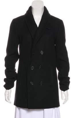 Theory Shawl-Collared Wool Coat
