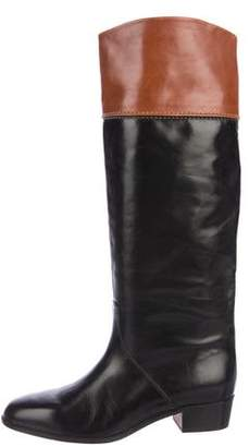 Saks Fifth Avenue Leather Riding Boots