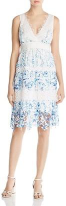 Elie Tahari Malina Floral Lace Dress $398 thestylecure.com