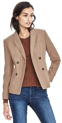 Double-Breasted Camel Flannel Blazer $228 thestylecure.com