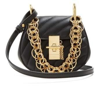 Chloé Drew Bijou Nano Leather Cross Body Bag - Womens - Black