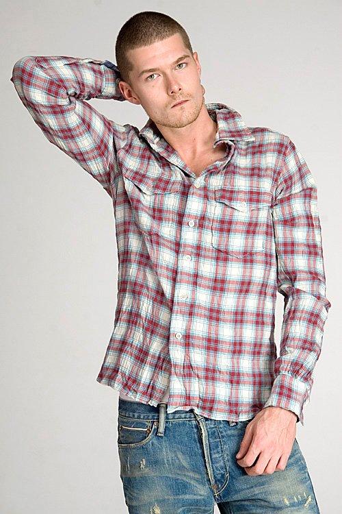 Gilded Age Fletcher Teal Plaid Shirt