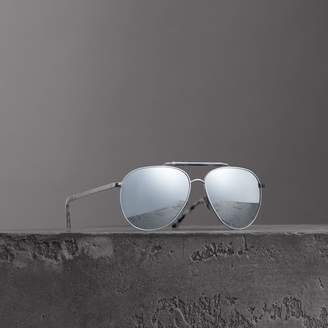 Burberry Top Bar Detail Pilot Sunglasses