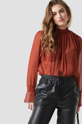 Trendyol Tile Frilly Blouse Brick