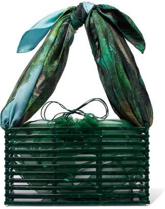 Montunas - Guaria Acetate And Silk-satin Tote - Green
