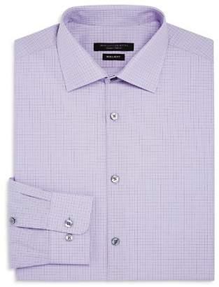 John Varvatos Tattersal-Checked Regular Fit Dress Shirt