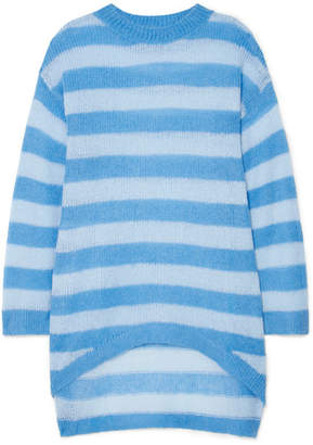 Georgia Alice - Delphine Oversized Striped Open-knit Sweater - Blue