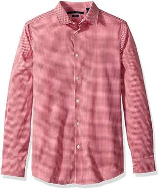 Perry Ellis Men's Mini Check Total Stretch Dress Shirt