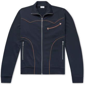 Dries Van Noten Piped Loopback Cotton-Jersey Zip-Up Sweatshirt