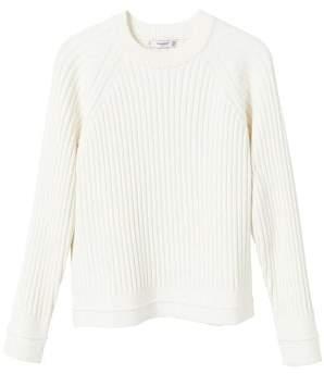 MANGO Ribbed knit sweater