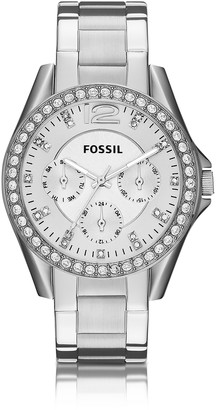 Fossil Riley Multifunction Silver Stainless Steel Women's Watch