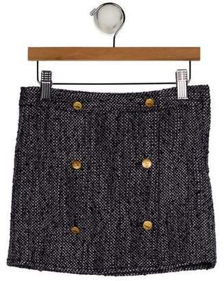 Brooks Brothers Girls' Bouclé Mini Skirt