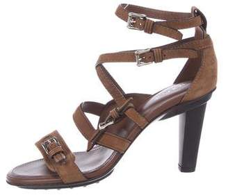 Tod's Multistrap Suede Sandals