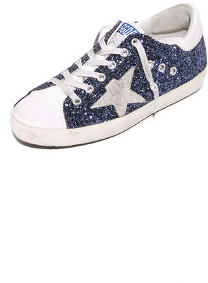 Golden Goose Superstar Glitter Sneakers $495 thestylecure.com