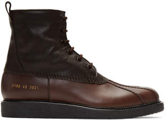 Common Projects Brown Duck Boots
