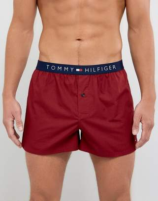 Tommy Hilfiger Woven Boxers in Valentine Red