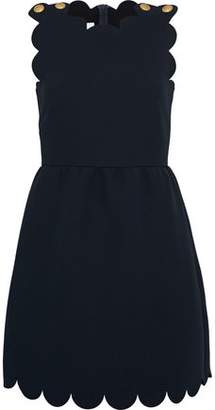 RED Valentino Button-Detailed Crepe Mini Dress