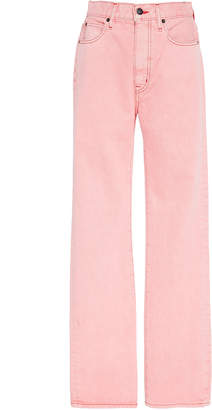 SLVRLAKE Denim London High-Rise Straight-Leg Jeans