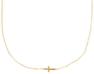 Lord & Taylor 14 Kt. Yellow Gold Cross Charm Necklace $200 thestylecure.com
