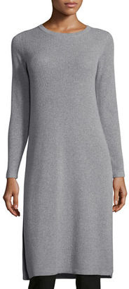 Eileen Fisher Long-Sleeve Ribbed Cashmere Drama Tunic $578 thestylecure.com