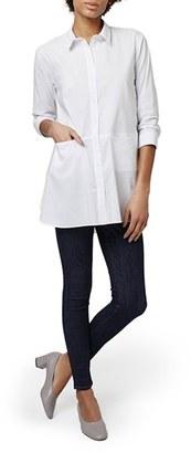 Topshop 'Jet' Poplin Tunic Shirt $68 thestylecure.com