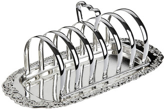 Corbell Silver Company Inc. Silver-Plated Toast Rack with Floral Base