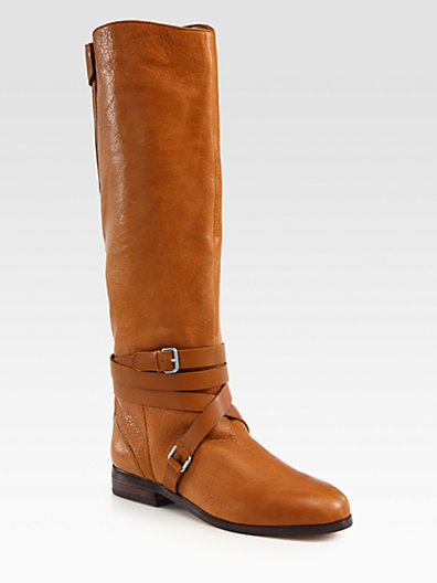 Dolce Vita Laila Leather Strappy Knee-High Boots