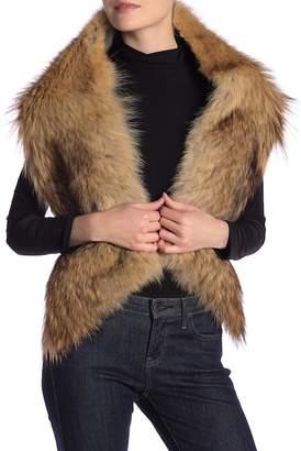 Theory Genuine Coyote Fur Shawl